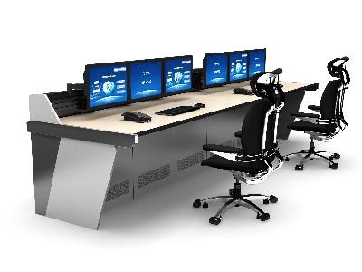 控制台监控室的中央集成布局如下