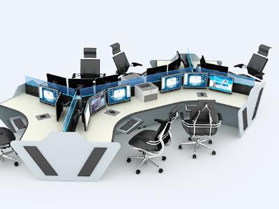 控制台的出现给监控室的环境带来了新的面貌