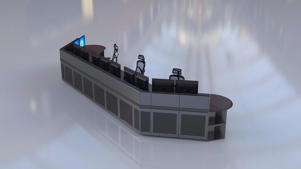 弧形控制台厂家订制