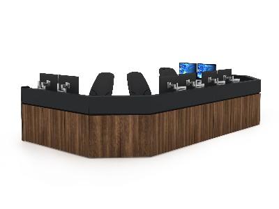 公安应急指挥中心控制台空间环境设计