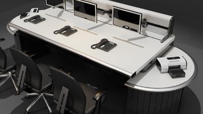 琴式监控控制台(款式三)
