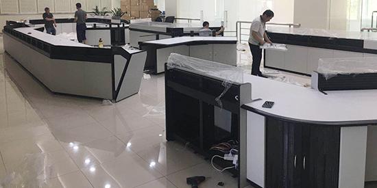 冲瀚智能助力北京市某区公安分局安全指挥大厅控制台定制