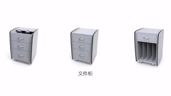 三抽金属文件柜