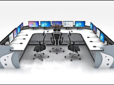 调度指挥所根据指挥中心的规模、大厅布局等因素进行调度