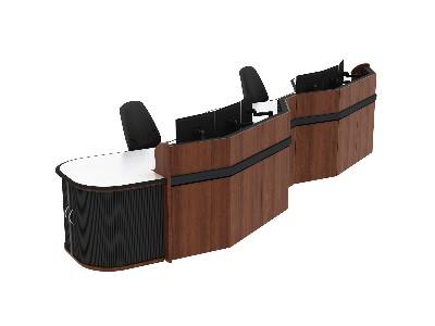 控制台的材料造型更符合工业设计的概念